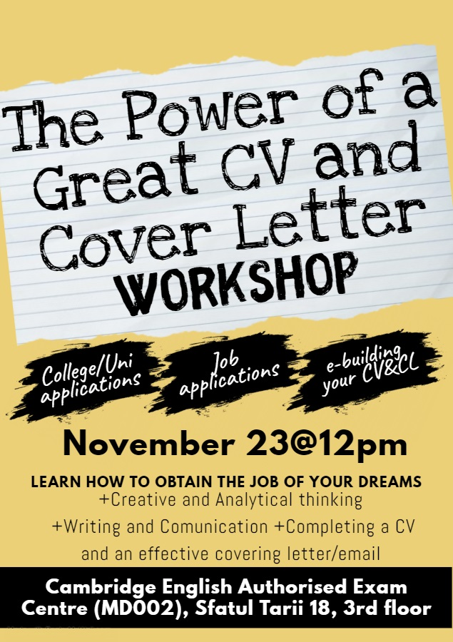 The Power of a Great CV and CL Workshop